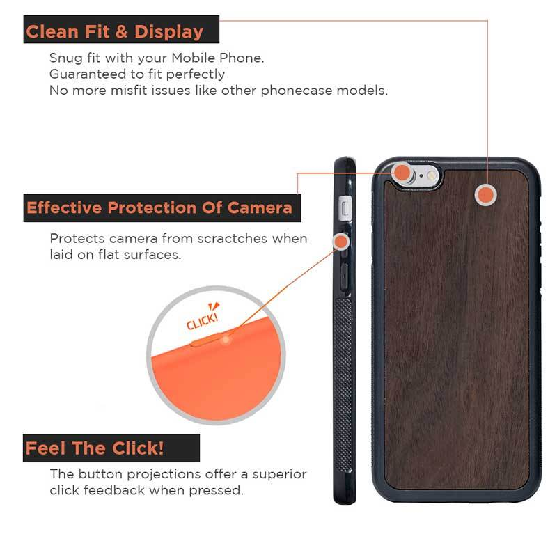 Mangomask™ - Apple iPhone 6 Plus / 6S Plus  Mobile Rosewood Real Wood Slim Phone Case Back Cover