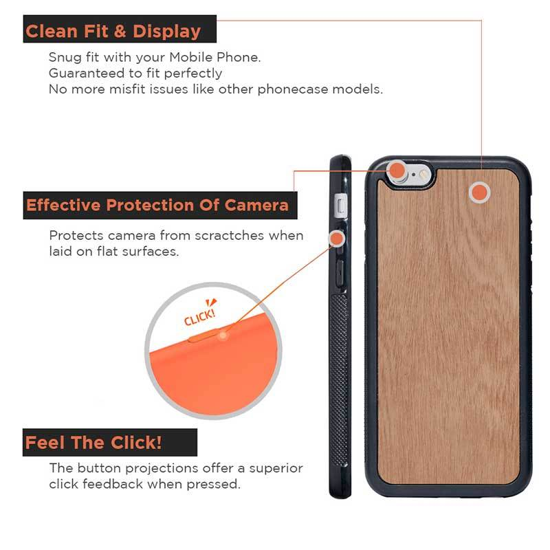 Mangomask™ - Apple iPhone 6 Plus / 6S Plus  Mobile Mahogany Real Wood Slim Phone Case Back Cover