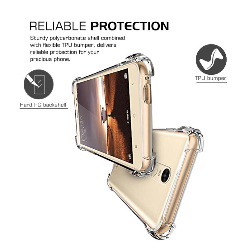 Mangomask™ Crystal-Bumper Series - Phone Covers for Xiaomi Redmi Note 3 Ultra Clear - Soft Silicone - TPU Shock Absorption - Bumper Frame