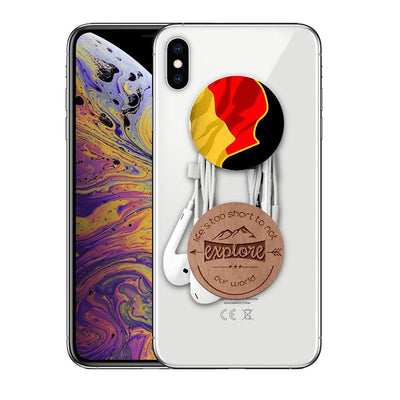 POPSOCKETS BLACK Mangomask™ Pop Sockets - Awesome Designs To Illustratoin Baboon (Black base/White base)