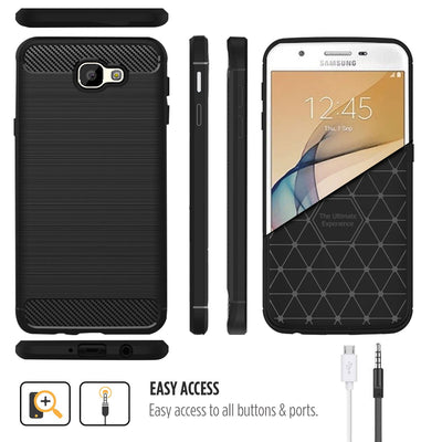 Samsung Galaxy J7 Prime / On7 2016 / On Nxt Black Mangomask - Samsung Galaxy J7 Prime 2016 / On Nxt / On7 2016 Mobile Phone Case Back Cover Rig Armor Series