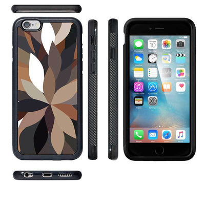 Mangomask™ - Apple iPhone 6 / 6S Dark-Floral-Pattern Print on Real Wood Slim Mobile Phone Case Back Cover