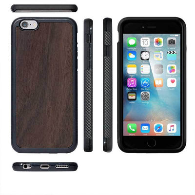 Mangomask™ - Apple iPhone 6 / 6S Mobile Plain Rosewood Real Wood Phone Case Back Cover