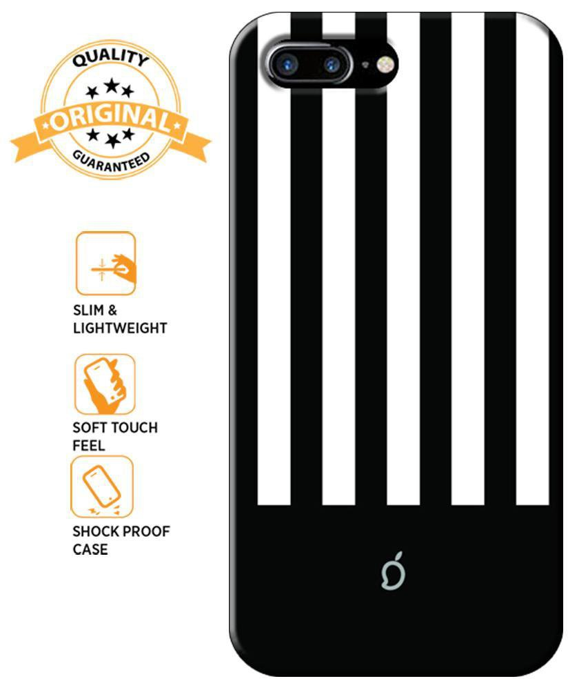 best sneakers 62dd6 e2e8b Mangomask Apple iPhone 8 Plus Mobile Phone Case Back Cover Custom Printed  Neon Series Black Striped 5