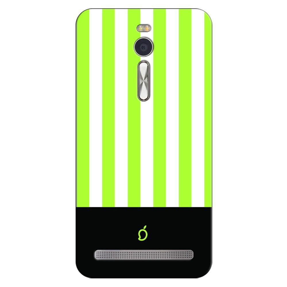 finest selection b1e74 74c38 Mangomask Asus ZenFone 2 Mobile Phone Case Back Cover Custom Printed Neon  Series Inchworm Green Striped Five
