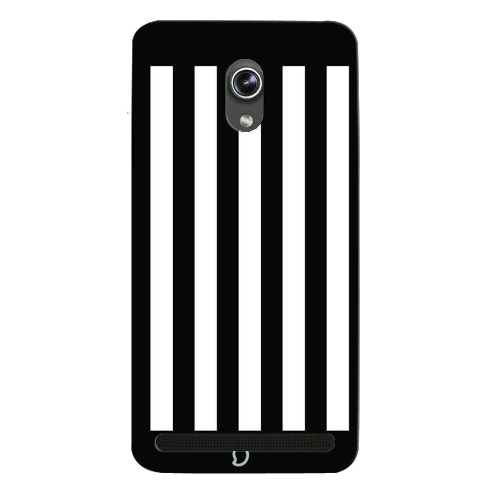 Mangomask Asus ZenFone 5 Mobile Phone Case Back Cover Custom Printed Neon  Series Black Striped Seven