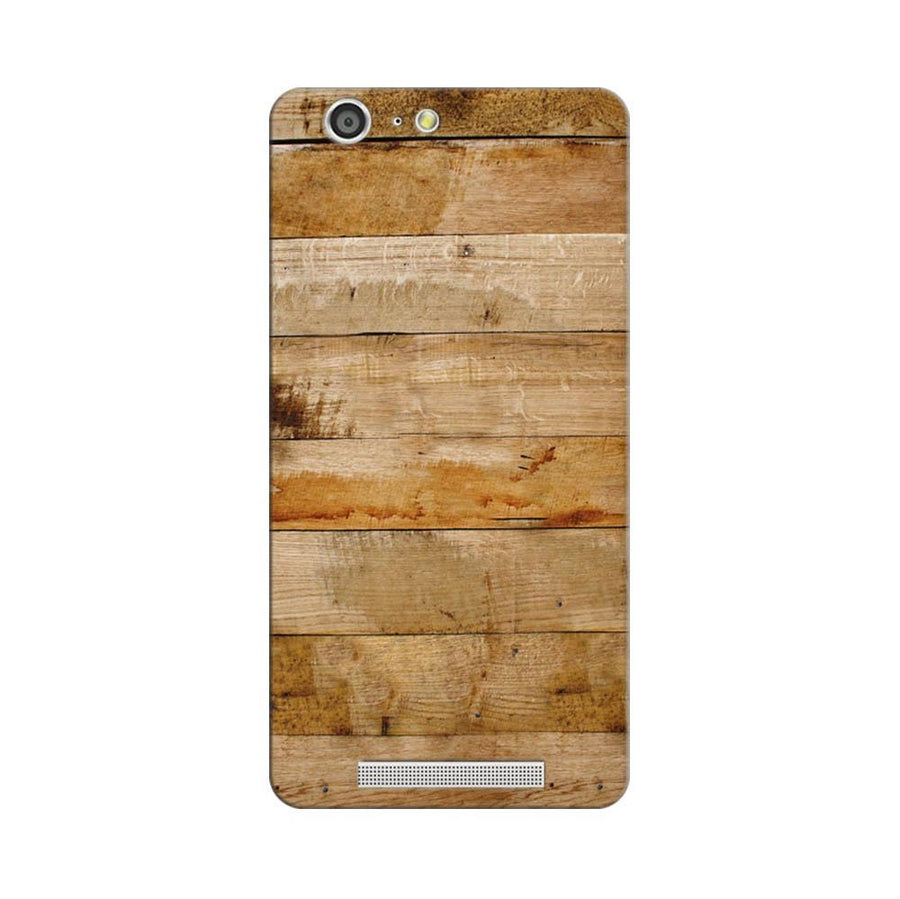 Mangomask Gionee Marathon M5 Mobile Phone Case Back Cover Custom Printed Designer Series Teak Wood
