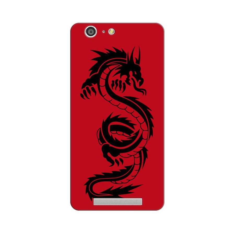 Mangomask Gionee Marathon M5 Mobile Phone Case Back Cover Custom Printed Designer Series Red Dragon