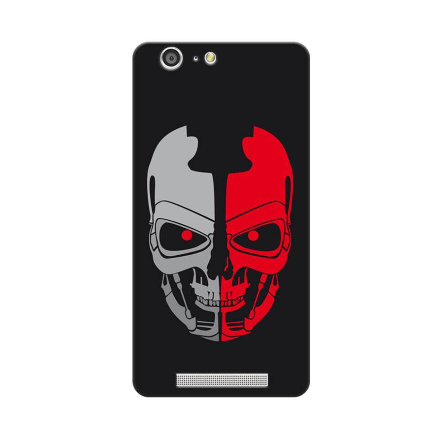 Mangomask Gionee Marathon M5 Mobile Phone Case Back Cover Custom Printed Designer Series Scary Red Skull