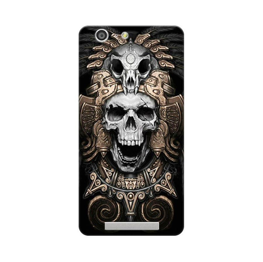Mangomask Gionee Marathon M5 Mobile Phone Case Back Cover Custom Printed Designer Series Skull Crown