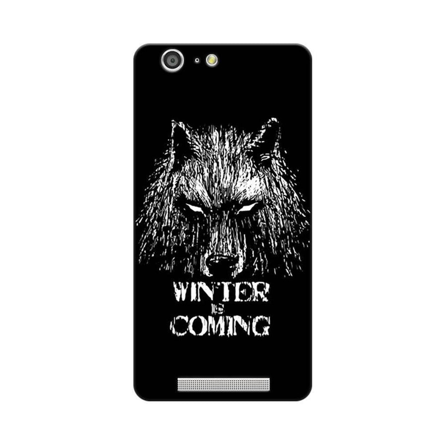 Mangomask Gionee Marathon M5 Mobile Phone Case Back Cover Custom Printed Designer Series Wolf Winter Is Coming Game Of Thrones (Got) House Stark