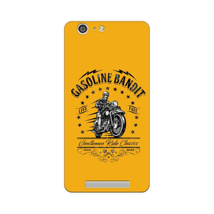 Mangomask Gionee Marathon M5 Mobile Phone Case Back Cover Custom Printed Designer Series Rider Motor Cycle