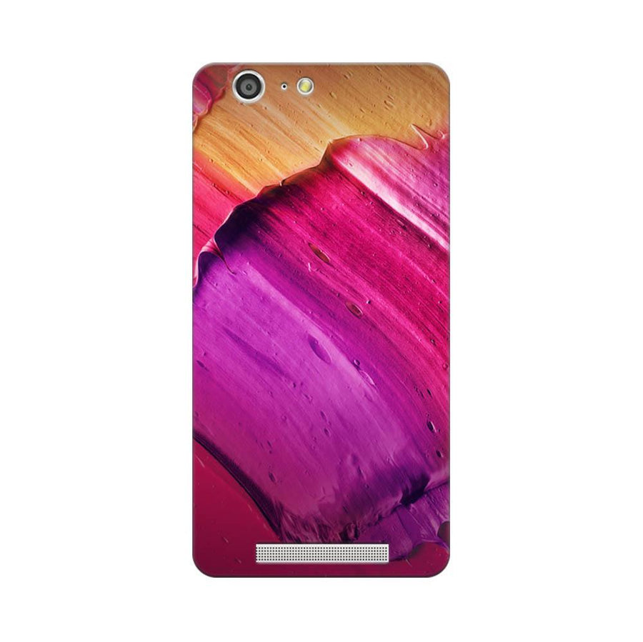 Mangomask Gionee Marathon M5 Mobile Phone Case Back Cover Custom Printed Designer Series Purple Pink Brusk Strokes