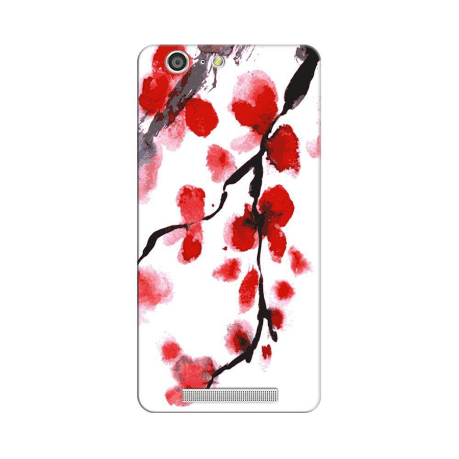 Mangomask Gionee Marathon M5 Mobile Phone Case Back Cover Custom Printed Designer Series Red And White Black Floral