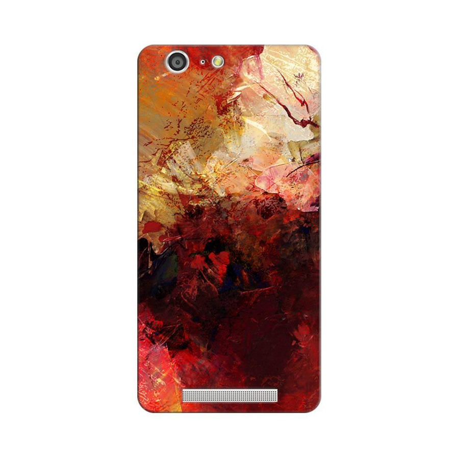 Mangomask Gionee Marathon M5 Mobile Phone Case Back Cover Custom Printed Designer Series Red And Gold Brush Strokes
