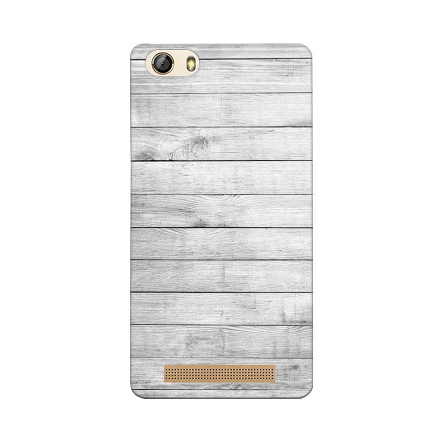Mangomask Gionee Marathon M5 Lite Mobile Phone Case Back Cover Custom Printed Designer Series White Wood Two