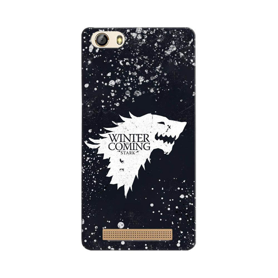 Mangomask Gionee Marathon M5 Lite Mobile Phone Case Back Cover Custom Printed Designer Series Winter Is Coming Game Of Thrones House Stark
