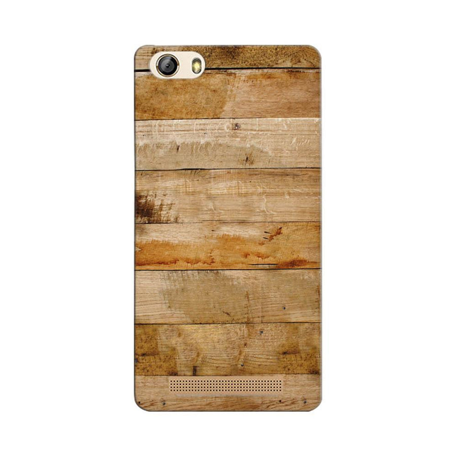 Mangomask Gionee Marathon M5 Lite Mobile Phone Case Back Cover Custom Printed Designer Series Teak Wood