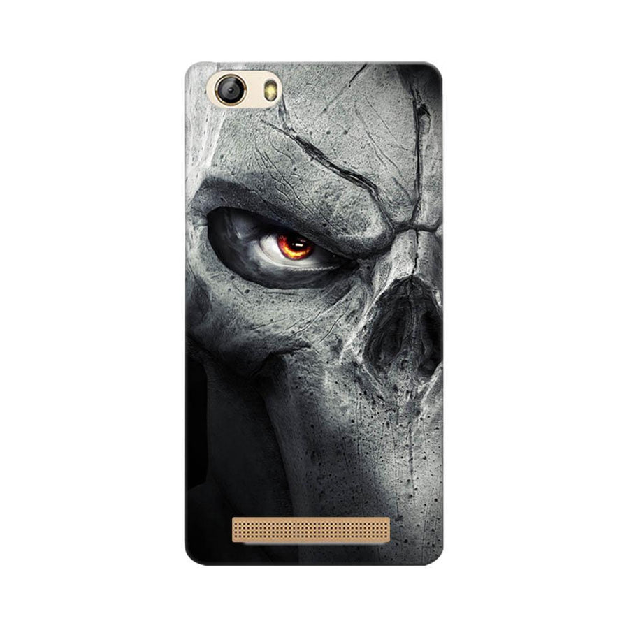 Mangomask Gionee Marathon M5 Lite Mobile Phone Case Back Cover Custom Printed Designer Series Serious Skull
