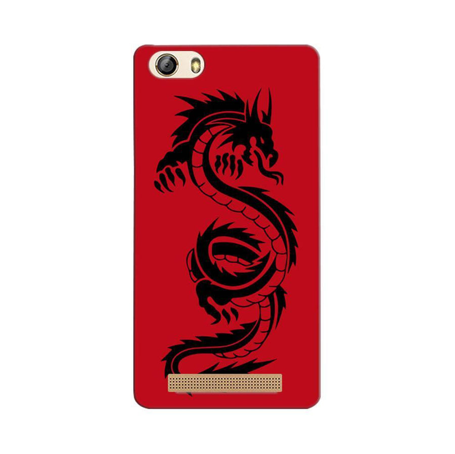 Mangomask Gionee Marathon M5 Lite Mobile Phone Case Back Cover Custom Printed Designer Series Red Dragon