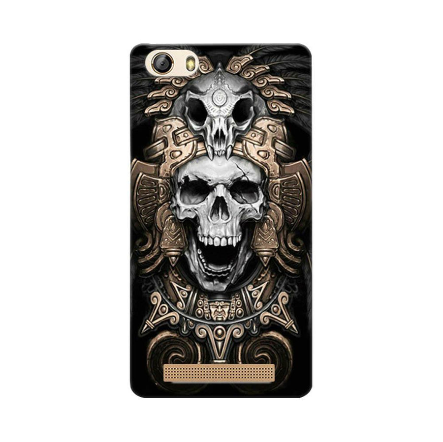 Mangomask Gionee Marathon M5 Lite Mobile Phone Case Back Cover Custom Printed Designer Series Skull Crown