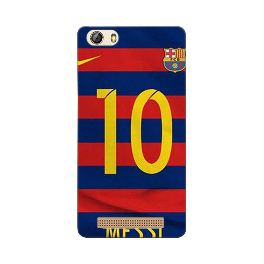 Mangomask Gionee Marathon M5 Lite Mobile Phone Case Back Cover Custom Printed Designer Series Soccer Messi One
