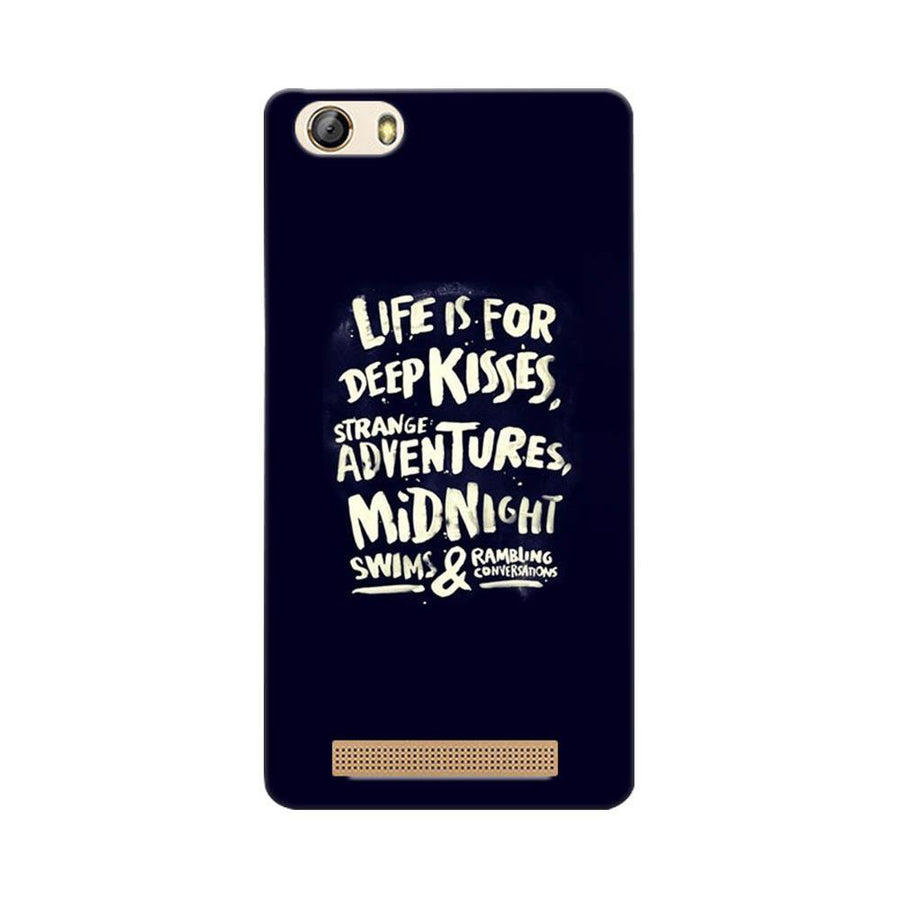 Gionee Marathon M5 Lite Mangomask Gionee Marathon M5 Lite Mobile Phone Case Back Cover Custom Printed Designer Series Life Is For Kisses
