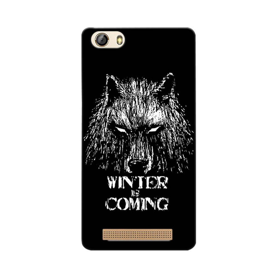 Mangomask Gionee Marathon M5 Lite Mobile Phone Case Back Cover Custom Printed Designer Series Wolf Winter Is Coming Game Of Thrones (Got) House Stark