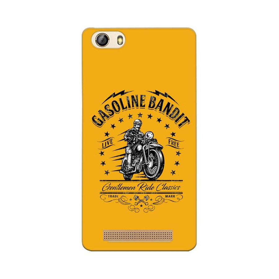 Mangomask Gionee Marathon M5 Lite Mobile Phone Case Back Cover Custom Printed Designer Series Rider Motor Cycle