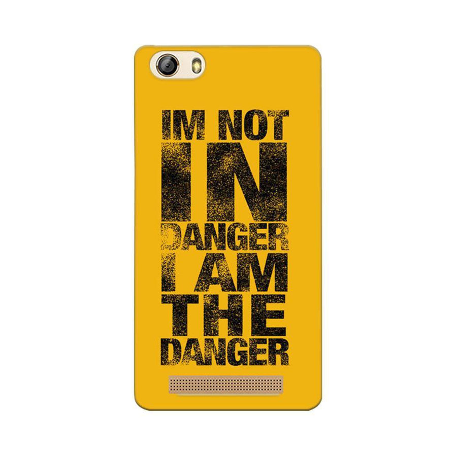 Gionee Marathon M5 Lite Mangomask Gionee Marathon M5 Lite Mobile Phone Case Back Cover Custom Printed Designer Series I Am Not In Danger