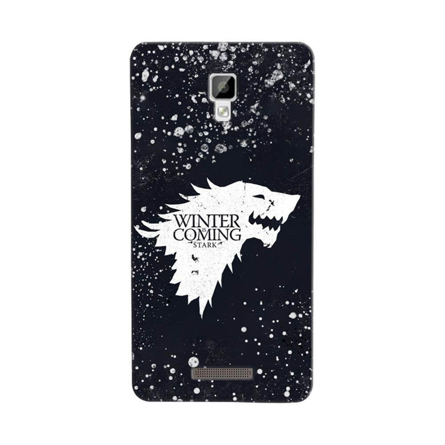 Mangomask Gionee P7 Mobile Phone Case Back Cover Custom Printed Designer Series Winter Is Coming Game Of Thrones House Stark