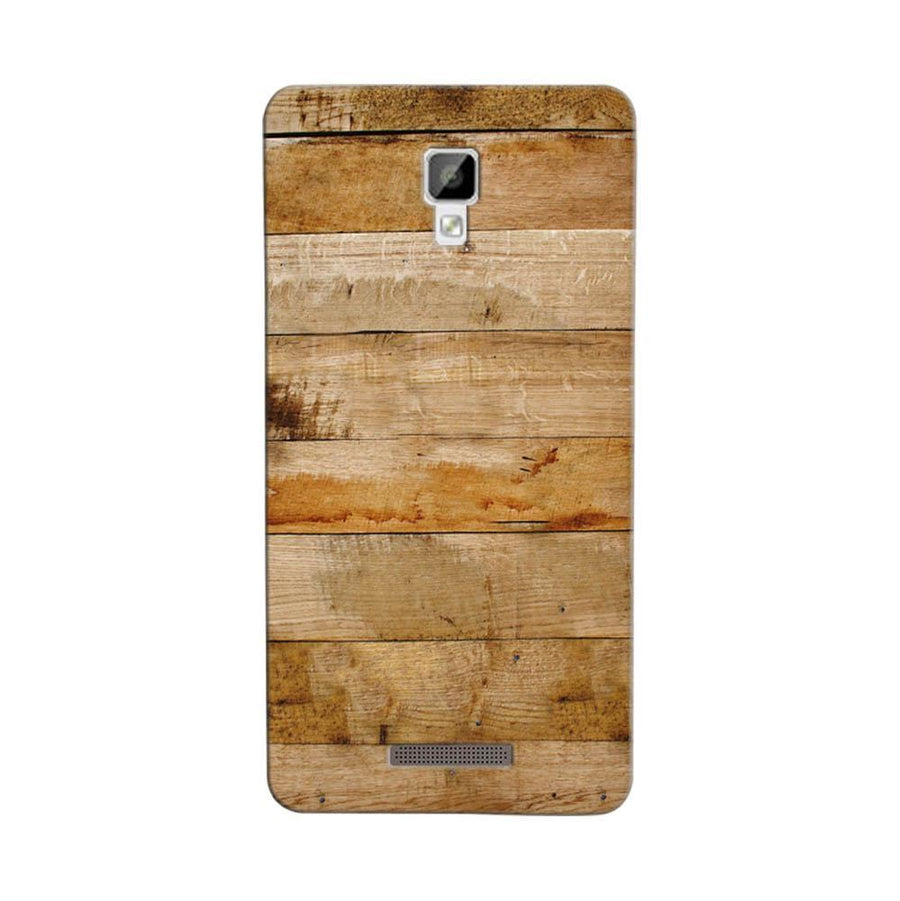 Mangomask Gionee P7 Mobile Phone Case Back Cover Custom Printed Designer Series Teak Wood