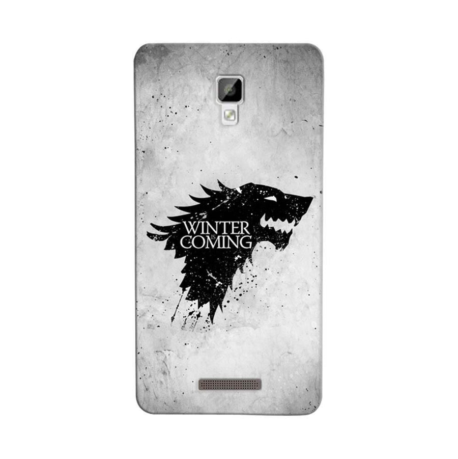 Mangomask Gionee P7 Mobile Phone Case Back Cover Custom Printed Designer Series White Winter Is Coming Game Of Throne (Got) House Stark