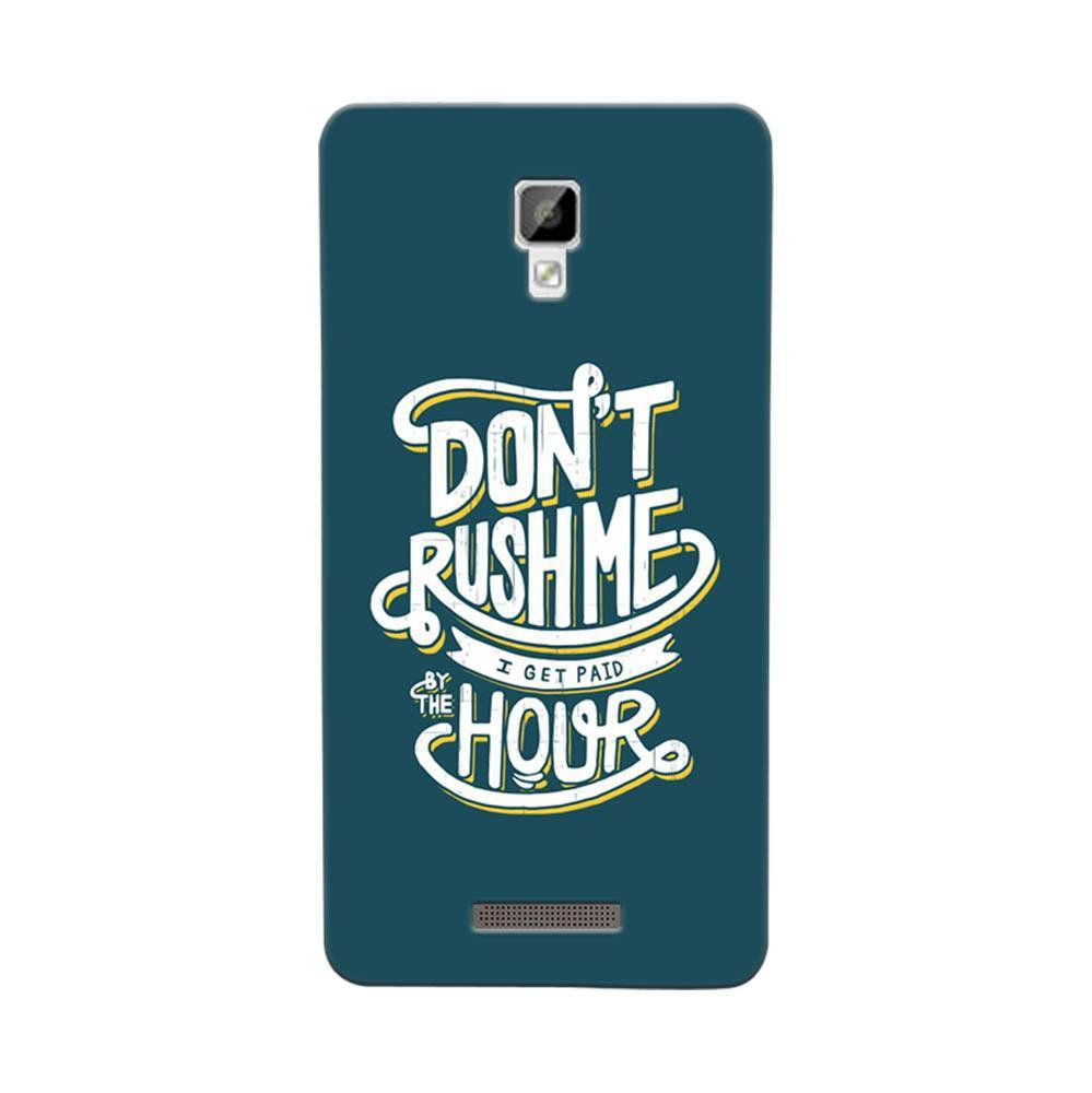 free shipping 88065 ef992 Mangomask Gionee P7 Mobile Phone Case Back Cover Custom Printed Designer  Series Don'T Rush Me