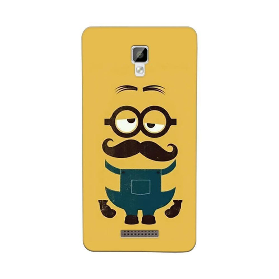 Mangomask Gionee P7 Mobile Phone Case Back Cover Custom Printed Designer Series Hipsters Minions Two Despicable Me