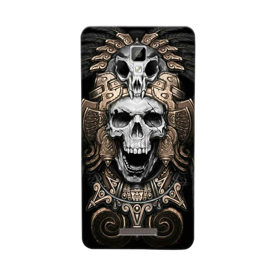 Mangomask Gionee P7 Mobile Phone Case Back Cover Custom Printed Designer Series Skull Crown