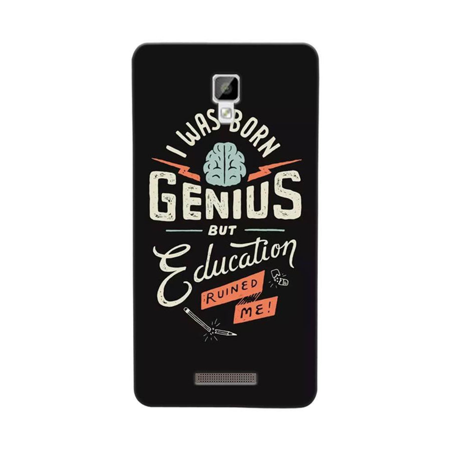 Mangomask Gionee P7 Mobile Phone Case Back Cover Custom Printed Designer Series I Was Born Genius