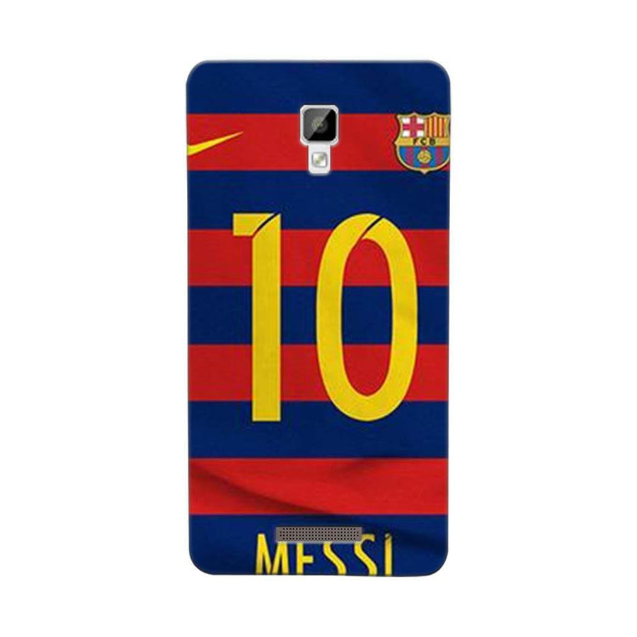 Mangomask Gionee P7 Mobile Phone Case Back Cover Custom Printed Designer Series Soccer Messi One