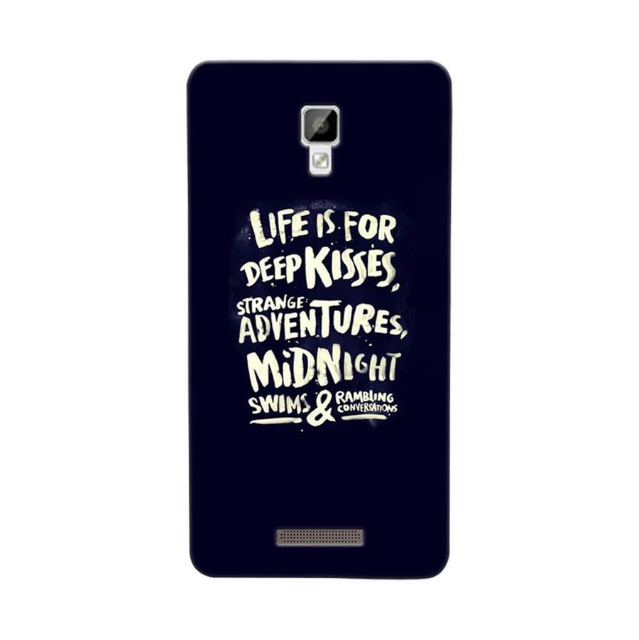 Mangomask Gionee P7 Mobile Phone Case Back Cover Custom Printed Designer Series Life Is For Kisses
