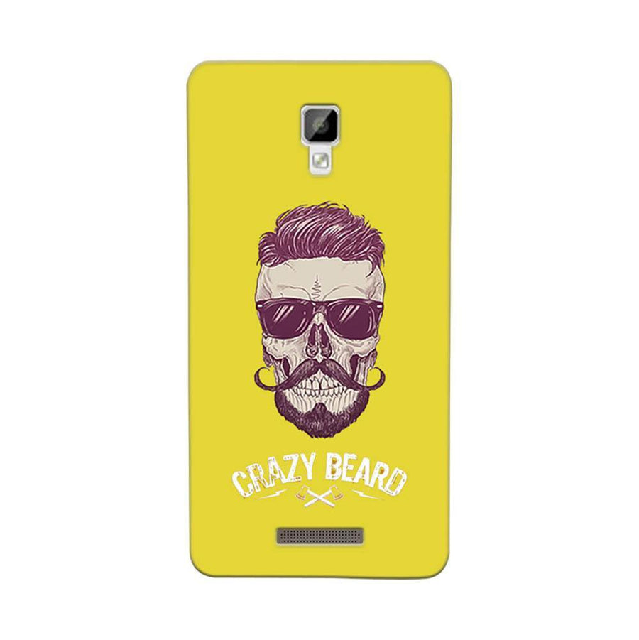 Mangomask Gionee P7 Mobile Phone Case Back Cover Custom Printed Designer Series Yellow Hipster Skull