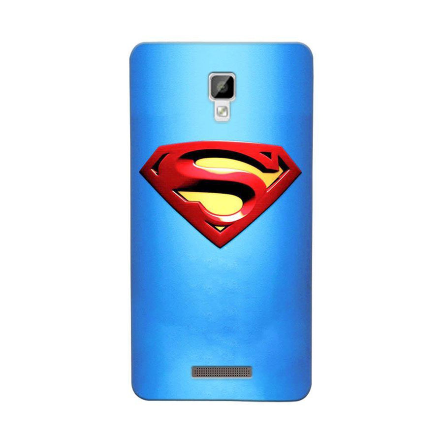 Mangomask Gionee P7 Mobile Phone Case Back Cover Custom Printed Designer Series Blue Super Man