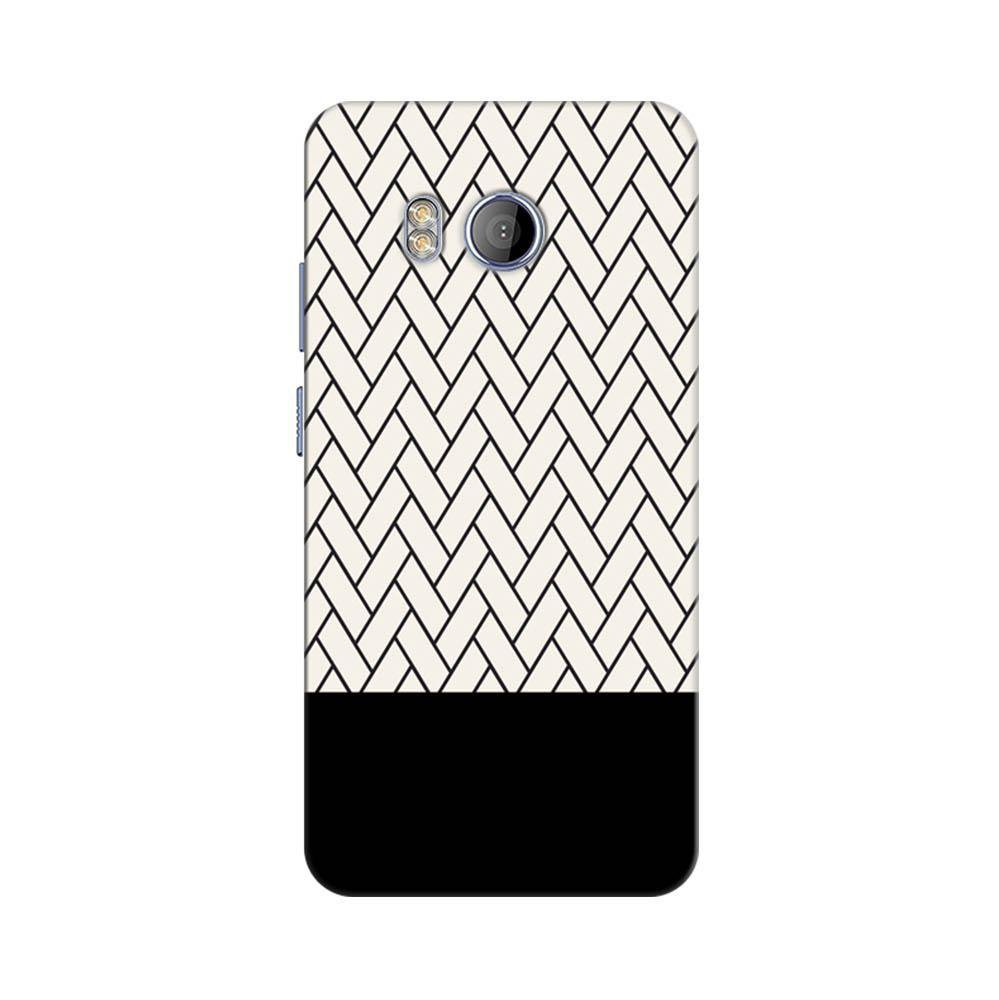 outlet store 98aae 4c7a0 Mangomask HTC U11 Mobile Phone Case Back Cover Custom Printed Designer  Series White And Black Boxes Pattern Two