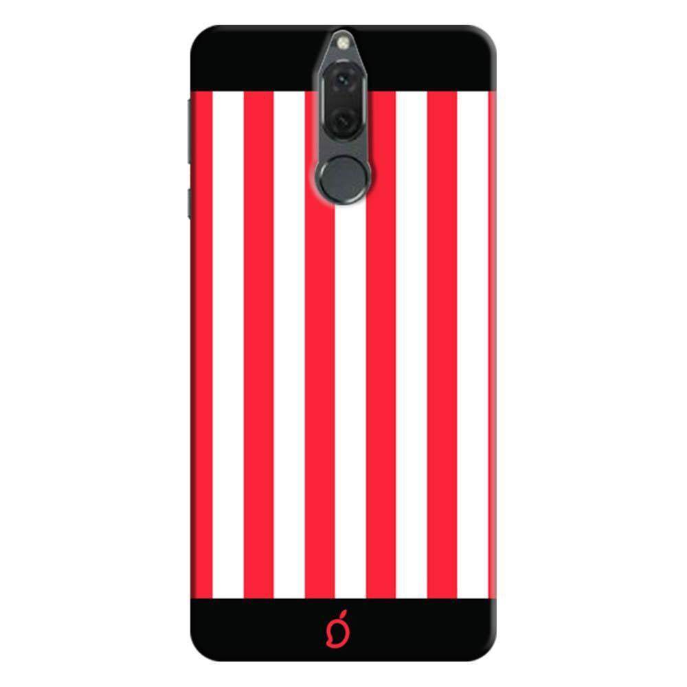 new concept 4cec5 40191 Mangomask Huawei Honor 9i Mobile Phone Case Back Cover Custom Printed Neon  Series Carmine Red Striped 7