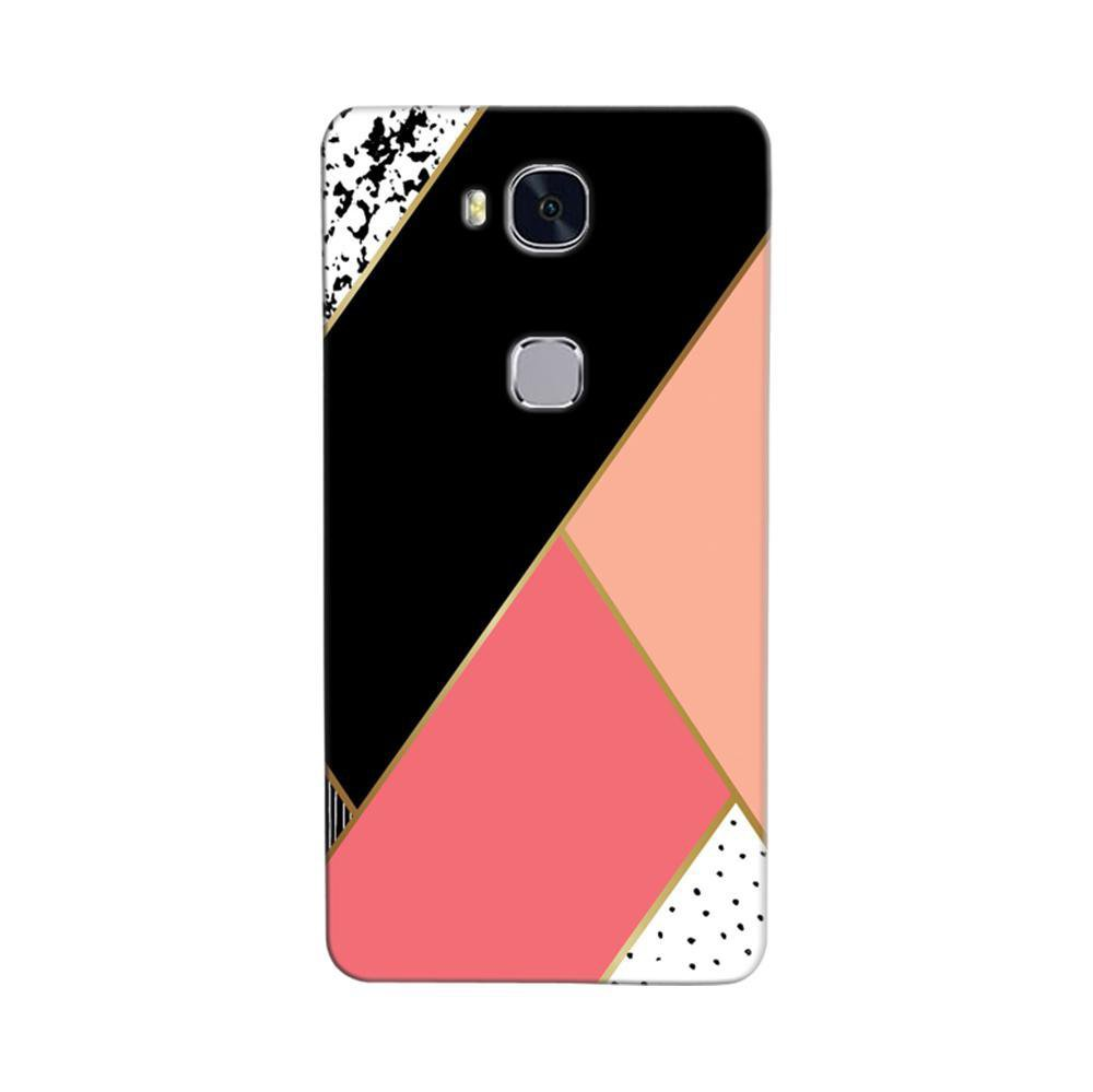 official photos 51736 183af Mangomask Huawei Honor 5C Mobile Phone Case Back Cover Custom Printed  Designer Series Black And Pink Cute Pattern