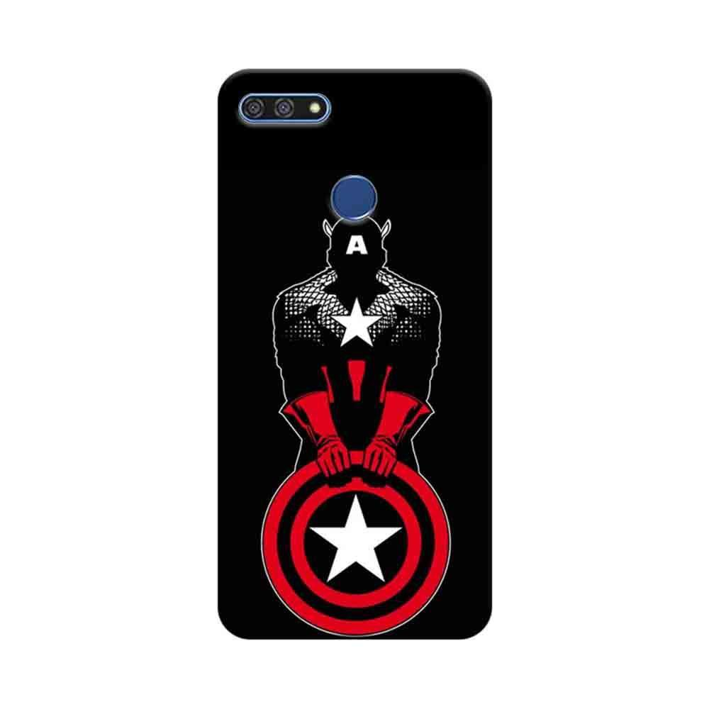 finest selection aa88d 76298 Mangomask Huawei Honor 7A Mobile Phone Case Back Cover Custom Printed  Designer Series Captain America Black