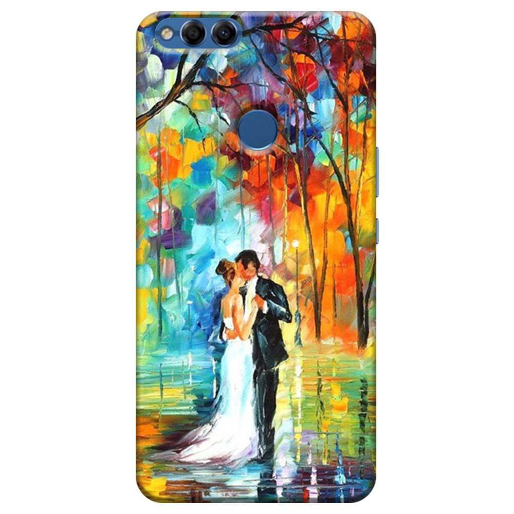 more photos 9a4c0 ea8ae Mangomask Huawei Honor 7X Mobile Phone Case Back Cover Custom Printed  Designer Series Couple Dance Painting