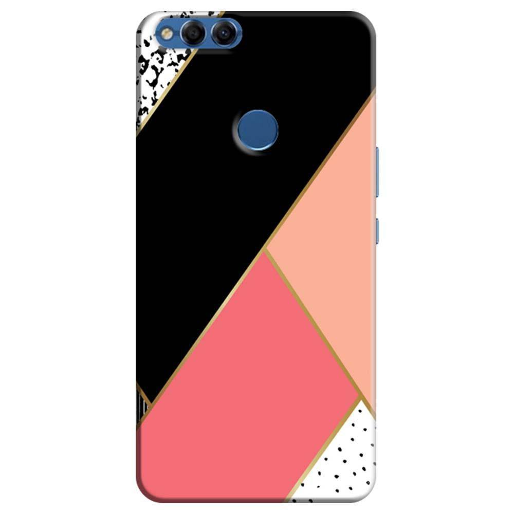 buy online dfab8 f268e Mangomask Huawei Honor 7X Mobile Phone Case Back Cover Custom Printed  Designer Series Black And Pink Cute Pattern