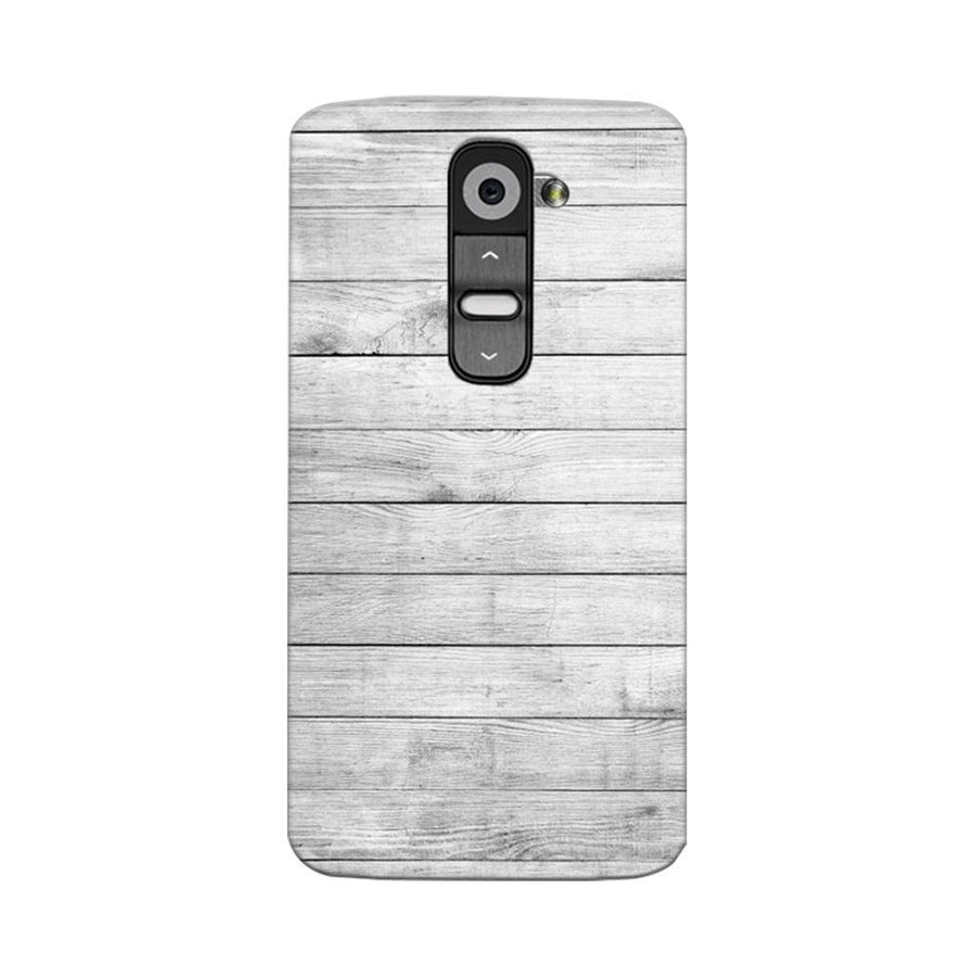 Mangomask LG G2 Mobile Phone Case Back Cover Custom Printed Designer Series White Wood Two