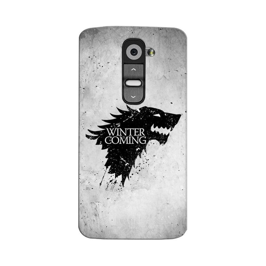 Mangomask LG G2 Mobile Phone Case Back Cover Custom Printed Designer Series White Winter Is Coming Game Of Throne (Got) House Stark