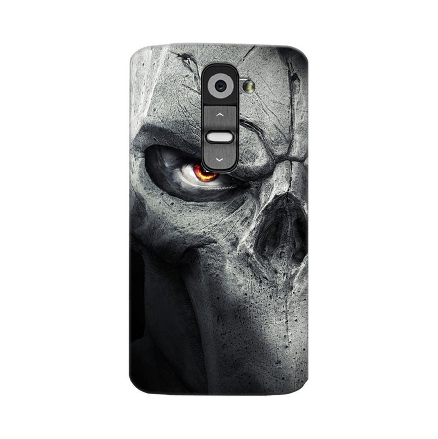 Mangomask LG G2 Mobile Phone Case Back Cover Custom Printed Designer Series Serious Skull